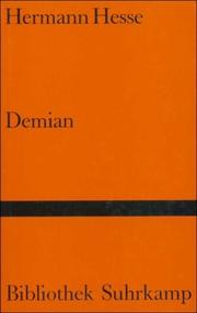 DEMIAN by Herman Hesse