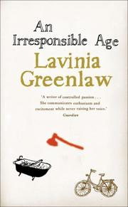 Book Cover for AN IRRESPONSIBLE AGE