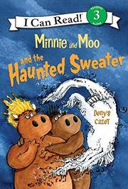 Book Cover for MINNIE AND MOO AND THE HAUNTED SWEATER