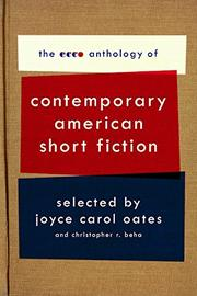 Cover art for THE ECCO ANTHOLOGY OF CONTEMPORARY AMERICAN SHORT FICTION