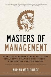 Book Cover for MASTERS OF MANAGEMENT