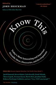 KNOW THIS by John Brockman