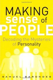 Cover art for MAKING SENSE OF PEOPLE