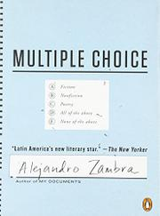 MULTIPLE CHOICE by Alejandro Zambra