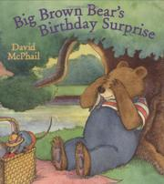 Cover art for BIG BROWN BEAR'S BIRTHDAY SURPRISE