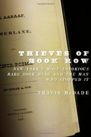 THIEVES OF BOOK ROW by Travis McDade
