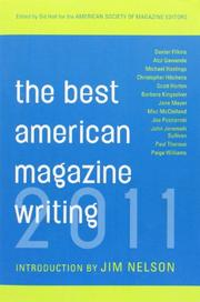 Cover art for THE BEST AMERICAN MAGAZINE WRITING 2011
