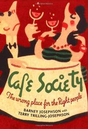 CAFE SOCIETY by Barney Josephson