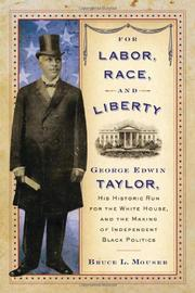 Cover art for FOR LABOR, RACE, AND LIBERTY