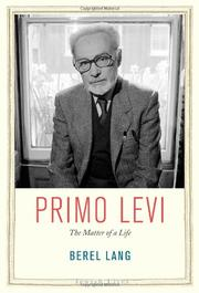PRIMO LEVI by Berel Lang