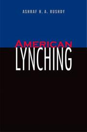 AMERICAN LYNCHING by Ashraf H.A. Rushdy