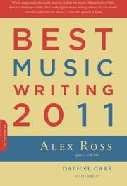 Cover art for BEST MUSIC WRITING 2011