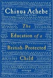 Book Cover for THE EDUCATION OF A BRITISH-PROTECTED CHILD