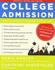 Book Cover for COLLEGE ADMISSION