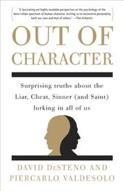 OUT OF CHARACTER by David DeSteno