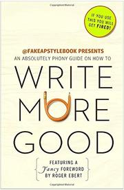Cover art for WRITE MORE GOOD