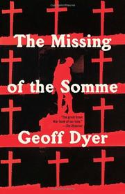 Cover art for THE MISSING OF THE SOMME