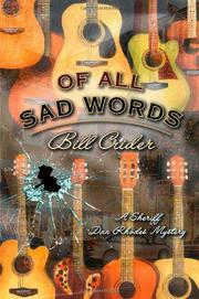 Book Cover for OF ALL SAD WORDS