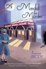 A MEDAL FOR MURDER by Frances Brody