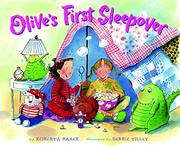 Cover art for OLIVE'S FIRST SLEEPOVER