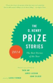 THE O. HENRY PRIZE STORIES 2014 by Laura Furman