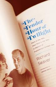 Book Cover for THE TENDER HOUR OF TWILIGHT