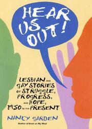 HEAR US OUT! by Nancy Garden