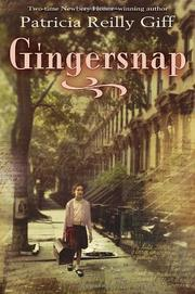 Book Cover for GINGERSNAP