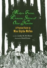Cover art for MODERN FAIRIES, DWARVES, GOBLINS & OTHER NASTIES