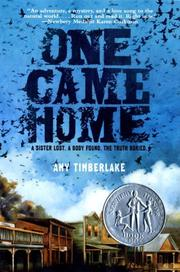 Book Cover for ONE CAME HOME