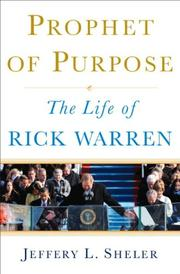 Cover art for PROPHET OF PURPOSE