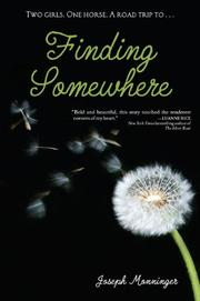 Cover art for FINDING SOMEWHERE