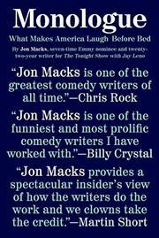 MONOLOGUE by Jon Macks