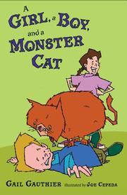 Book Cover for A GIRL, A BOY, AND A MONSTER CAT