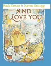 Book Cover for AND I LOVE YOU