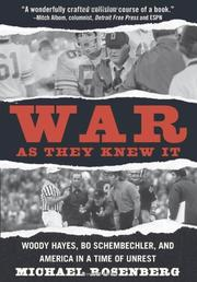 WAR AS THEY KNEW IT by Michael Rosenberg