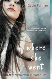 Cover art for WHERE SHE WENT