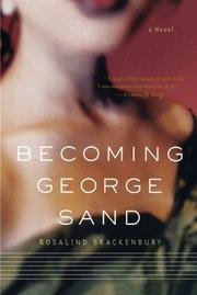 Cover art for BECOMING GEORGE SAND
