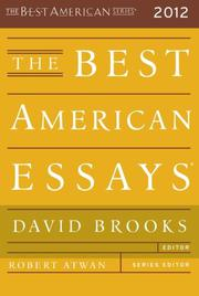 THE BEST AMERICAN ESSAYS 2012  by David Brooks