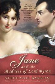 Cover art for JANE AND THE MADNESS OF LORD BYRON