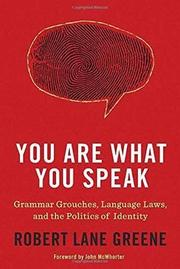 Cover art for YOU ARE WHAT YOU SPEAK