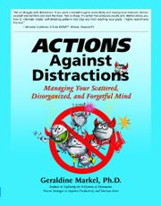 Actions Against Distractions by Geraldine Markel