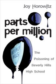 PARTS PER MILLION by Joy Horowitz