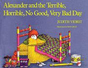 Book Cover for ALEXANDER AND THE TERRIBLE, HORRIBLE, NO GOOD, VERY BAD DAY