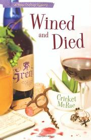Book Cover for WINED AND DIED