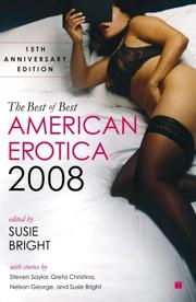 THE BEST OF BEST AMERICAN EROTICA, 2008 by Susie Bright