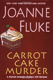 Book Cover for CARROT CAKE MURDER