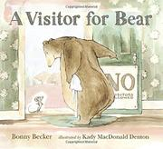 Cover art for A VISITOR FOR BEAR