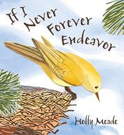 Cover art for IF I NEVER FOREVER ENDEAVOR
