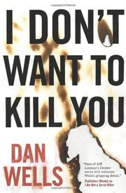Cover art for I DON'T WANT TO KILL YOU